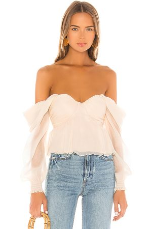 House of Harlow X REVOLVE Burna Blouse in - Ivory. Size L (also in M, S, XS, XXS).