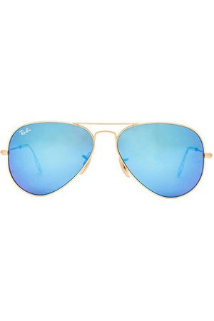 Ray-Ban Aviator Flash in - Blue. Size all.