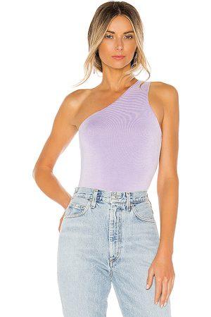 superdown Devonne One Shoulder Bodysuit in - Purple. Size M (also in XXS, XL).