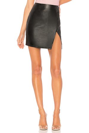 superdown Trinity Faux Leather Skirt in - . Size L (also in S, XXS, XS, M, XL).