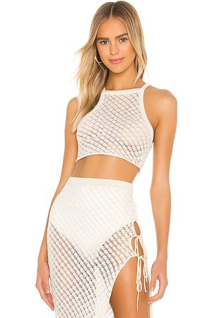 Camila Coelho Offshore Crop in - Ivory. Size L (also in M).