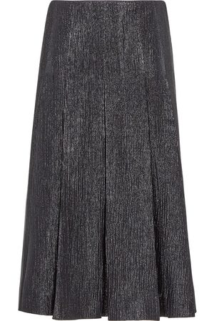 Fendi Metallic pleated midi skirt