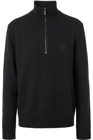 Burberry Homem Camisolas - Embroidered logo funnel-neck jumper