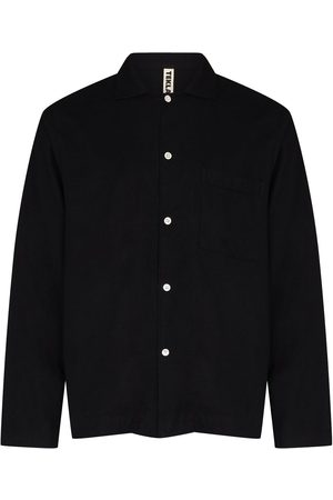 Tekla Long-sleeve cotton pyjama shirt