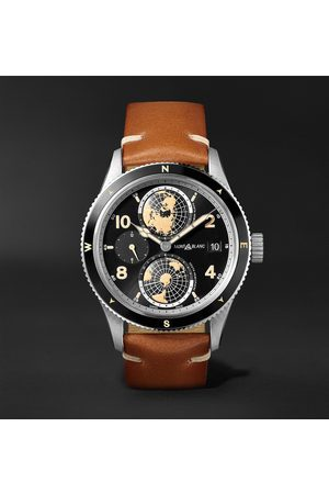 Mont Blanc 1858 Geosphere Automatic 42mm Stainless Steel, Ceramic and Leather Watch, Ref. No. 119286