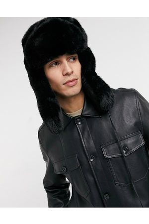 Kangol Faux fur trapper hat in black