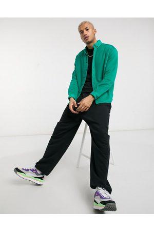 ASOS 90s oversized fleece shirt in bright green