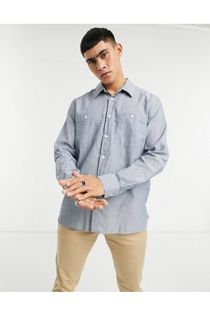 Albam Utility Factory small pinstripe overshirt in blue