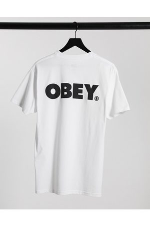 Obey Bold logo back print t-shirt in white