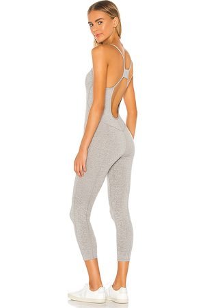Free People Senhora Macacões - X FP Movement Side To Side Performance Jumpsuit in - Grey. Size L (also in XS, S, M).