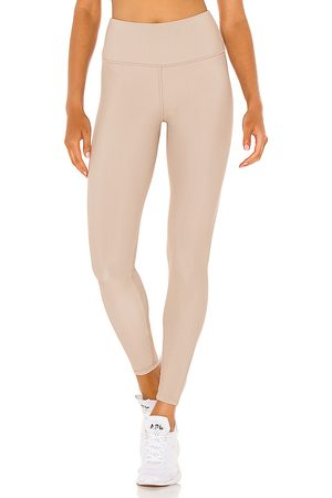 STRUT-THIS Kendall Ankle Legging in - Beige. Size L (also in XS, S, M, XL).