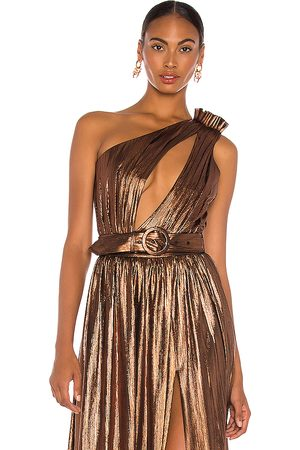 Retrofete Cassie Bodysuit in - Metallic Bronze. Size L (also in XS, S, M).