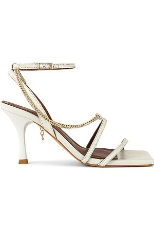 ALOHAS Straps Chain Heel in - White. Size 36 (also in 37, 38, 39).