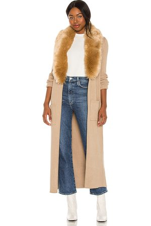 Show Me Your Mumu Lombardi Long Cardigan in - Taupe. Size L (also in XS, S, M).