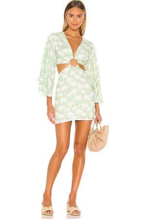 Lovers + Friends Maysa Kimono Dress in - Green. Size L (also in XXS, XS, S, M, XL).