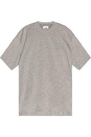 Y-3 Chest Logo Short Sleeve Tee in - Gray. Size L (also in S, M, XL).