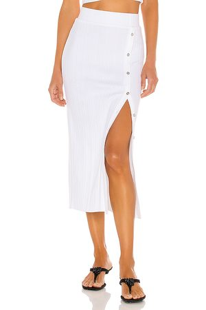 THE RANGE Wave Rib Button Up Midi Skirt in - . Size L (also in S).