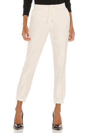 n:philanthropy Scarlett Leather Jogger in - White. Size L (also in XS, S, M).