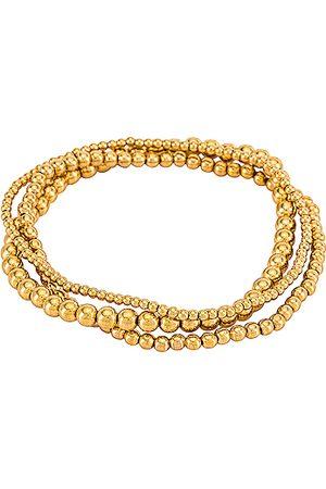 Natalie B Jewelry Bella Trois Bracelet Set in - Metallic . Size all.