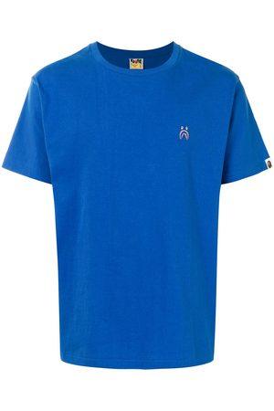 A BATHING APE® Embroidered shark motif cotton T-shirt