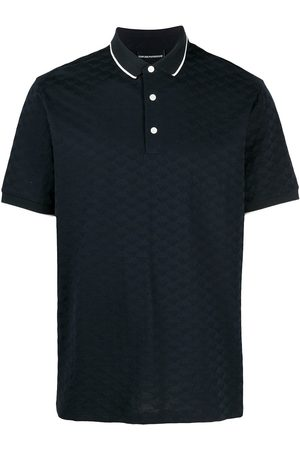 Emporio Armani Textured knit polo shirt