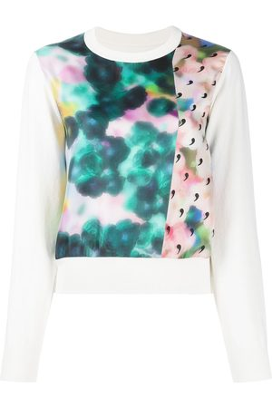 Maison Margiela Abstract print silk top