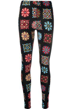 La DoubleJ Senhora Calças Justas - Floral stretch leggings