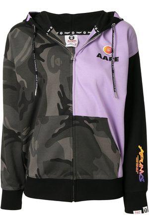 AAPE BY *A BATHING APE® Camouflage-print zip-up hoodie