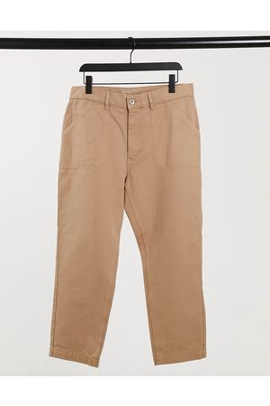 Albam Utility Slim fit work trousers in sand-Tan