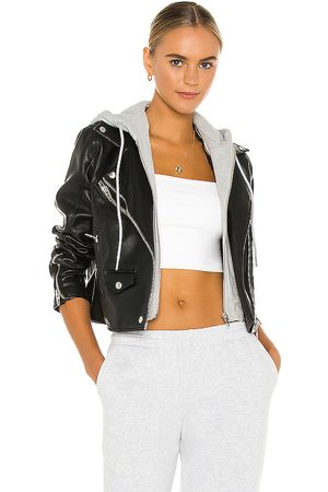 BLANK NYC X REVOLVE Twofer Vegan Leather Moto Jacket in - Black. Size L (also in M).