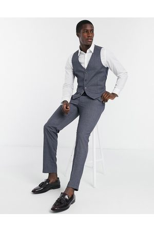 Farah Grey check slim fit suit trousers