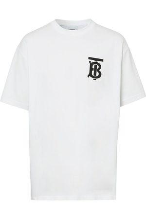 Burberry Homem T-shirts & Manga Curta - Oversized monogram motif T-shirt