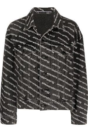 Alexander Wang Senhora Casacos - All-over logo-print jacket