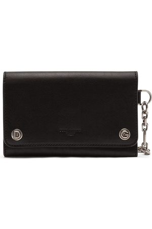 Dolce & Gabbana Logo-embossed trifold leather wallet