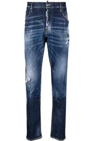 Dsquared2 Ripped straight-leg jeans