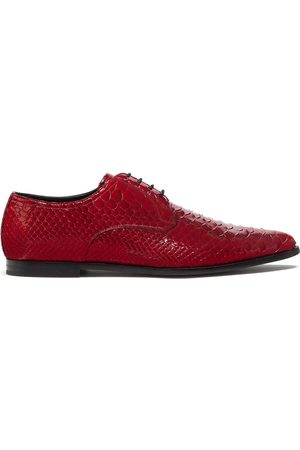 Dolce & Gabbana Textured varnished Derby shoes