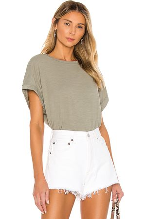 Free People You Rock Tee in - Army. Size M (also in XS, S).