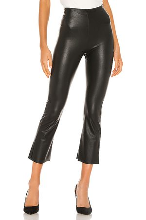 Commando Faux Leather Cropped Flare Pant in - . Size L (also in S).