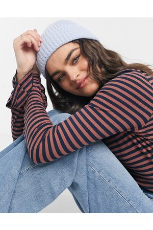 ASOS Chunky beanie with deep turn up in blue