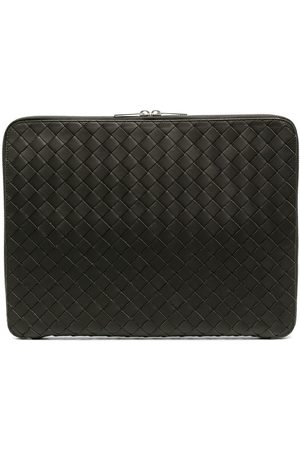 Bottega Veneta Intrecciato laptop clutch bag