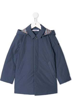 Familiar Checked lining rain coat