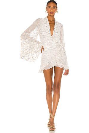 ROCOCO SAND Noi Mini Dress in - Ivory. Size L (also in M).