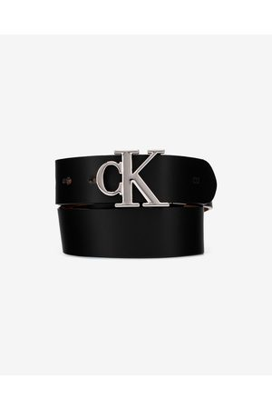 Calvin Klein Reversible Logo Belt Black Brown