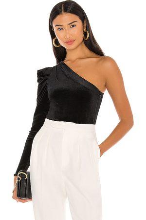 AllSaints Daphne Velvet Bodysuit in - . Size 0 (also in 00, 10, 2, 4, 6, 8).