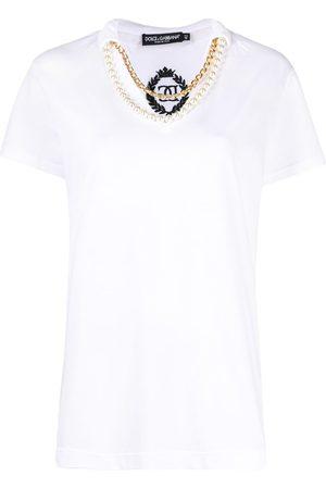 Dolce & Gabbana Necklace-detail V-neck T-shirt