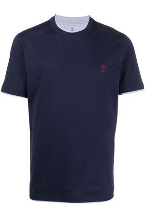 Brunello Cucinelli Embroidered logo T-shirt
