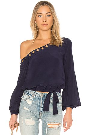 Lovers + Friends Alyssa Top in - Blue. Size M (also in S, XS, XXS).