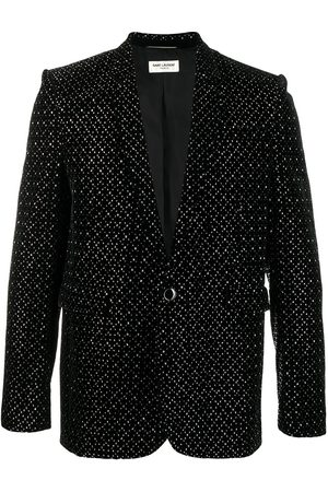 Saint Laurent Stud-embellished single-breasted blazer
