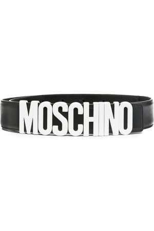Moschino Homem Cintos - Logo buckle belt