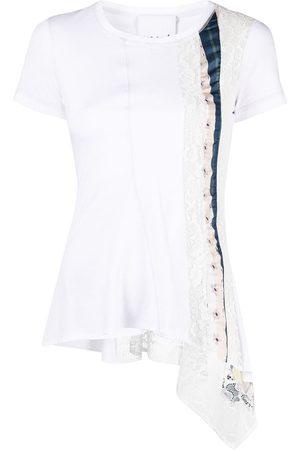 KOCHÉ Patchwork stripe T-shirt